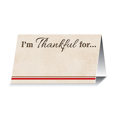 Im Thankful For... Place Cards (Pack of 144) Thankful, Place Cards, thanksgiving, fall, give thanks, party, food
