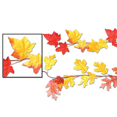 Autumn Leaf Garlands (Pack of 12)