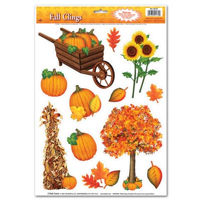 Fall Clings (Pack of 12 Sheets)