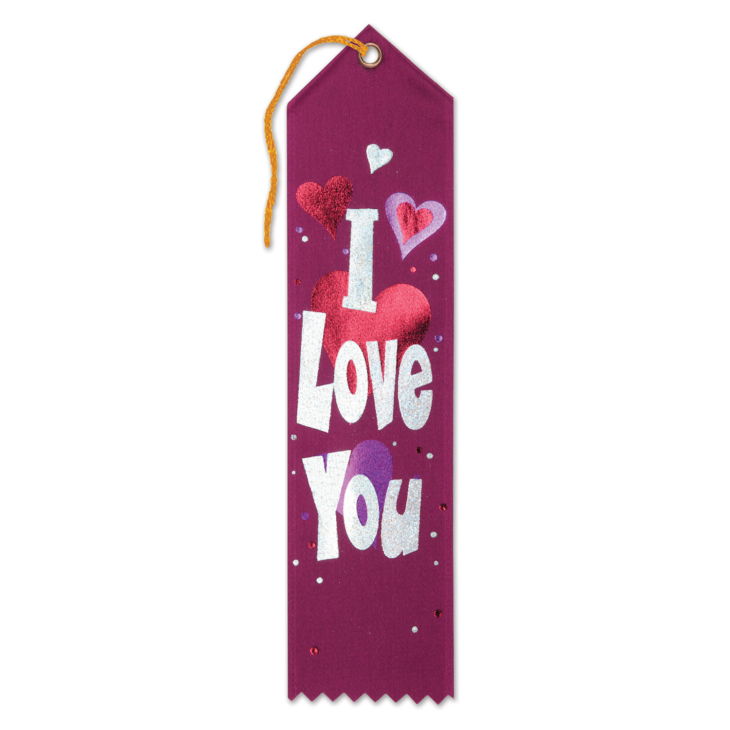 I Love You Award Ribbon (Pack of 6) .