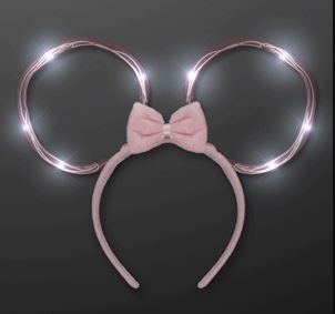Bendable Light Up Ears Headband for a mickey mouse costume at Halloween