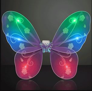 Blinking Purple LED Fairy Wings (Pack of 12)