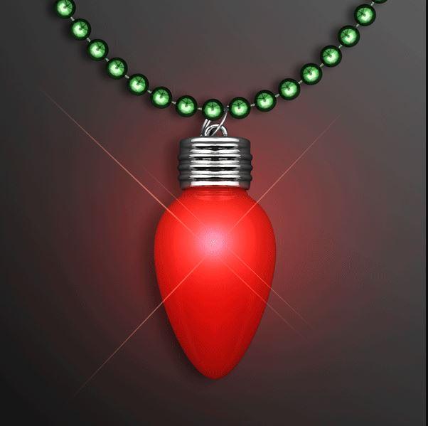 Huge Old School Mardi Gras Light Bulb Necklace