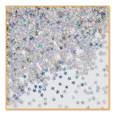 Silver Holographic Stars Confetti (Pack of 6)