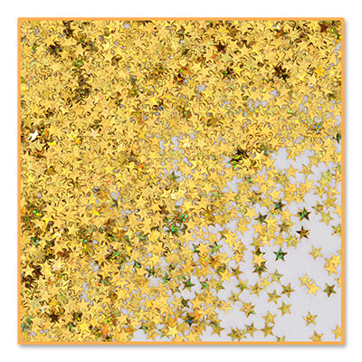 Gold Holographic Small Stars Confetti