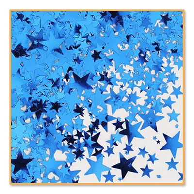 Metallic different size Blue Star Confetti