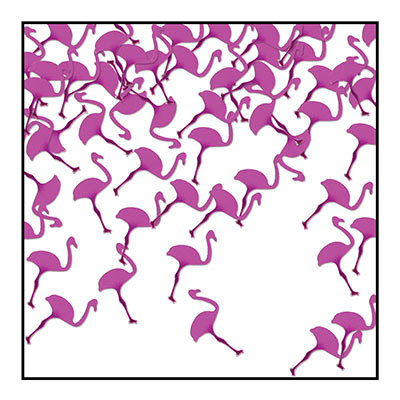 Flamingos Confetti (Pack of 6) Flamingos Confetti, flamingos, confetti, decoration, luau, wholesale, inexpensive, bulk