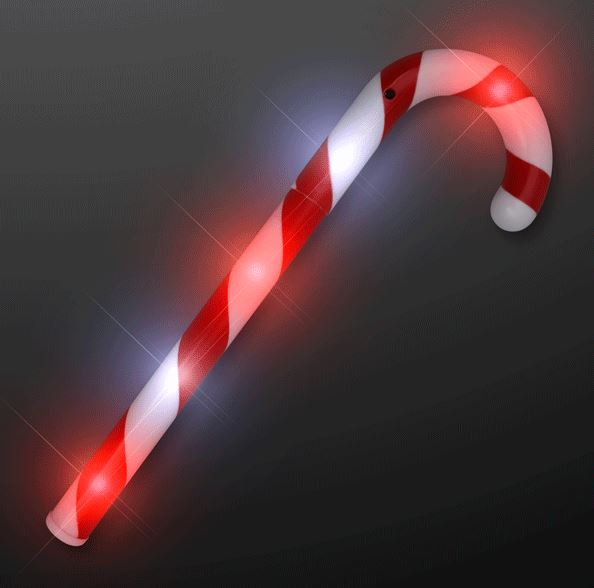 Red and white cnady cane light up wand.