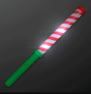 Red and White Candy Cane LED Lights Baton Stick for Christmas party favor