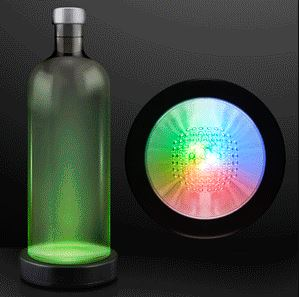 Color Changing LED Bottle Glorifiers. This Color Changing LED Bottle Glorfier provides a unique look to your basic bottle.