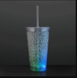 Cracked Ice Light Up Tumbler Cup for a party favor
