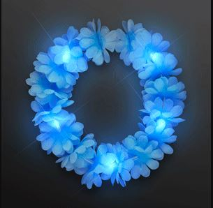 Light blue flower festival crown that lights up.
