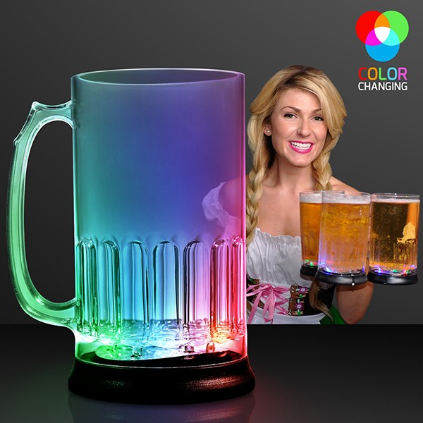 Light Up Flashing Beer Mug (Pack of 6) Beer Mug, Mug, Beer Stein, Light Up, Flashing, Glow in the Dark, Oktoberfest, New Years Eve, Wholesale party favors, Inexpensive decorations, Party decor, Bar Accessories