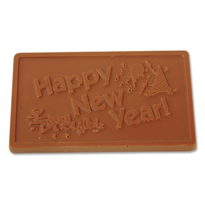 Happy New Year Chocolate Bar (Pack of 25) Happy New Year Chocolate Bar, new years eve, party favor, wholesale, bulk, inexpensive