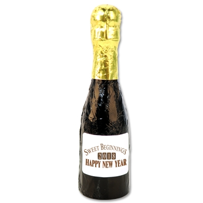 Chocolate Champagne Bottle (Pack of 12) Chocolate Champagne Bottle, chocolate, party favor, new years eve, wholesale, inexpensive, bulk
