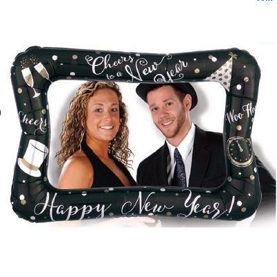 New Year Selfie Frame Balloon (Pack of 10) Picture, photo props, selfi frame balloon, ballon, picture frame