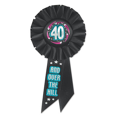 40 & Over The Hill Rosette (Pack of 6)