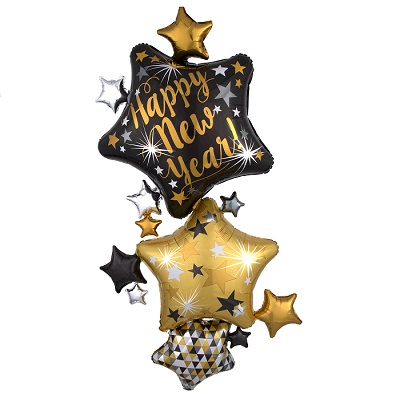 "67"" New Year Star Stacker (Pack of 3)"