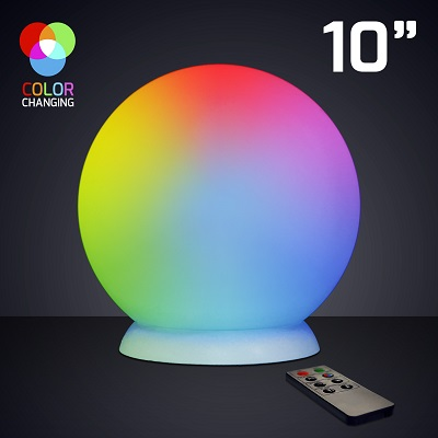 "10"" Floating LED Ball with Charger and Remote. This Color Changing Ball will add the perfect amount of flare to any party or home."